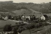 Klinikareal / Poststempel 20.04.1937